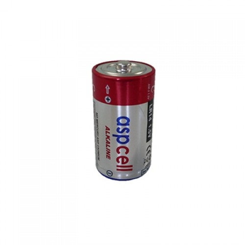 ASPCell Silindirik Tip Alkali Manganez Pil (LR14)