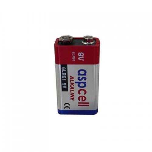 ASPCell Prizmatik Tip Alkali Manganez Pil (6LR61)